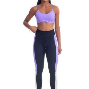 calça legging violeta, strong