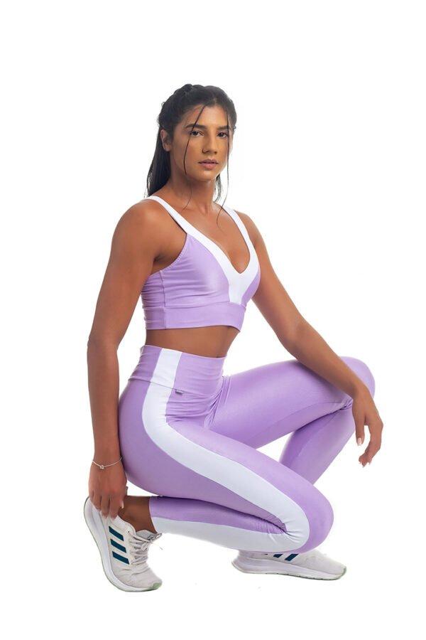 calça legging creme de uva, strong